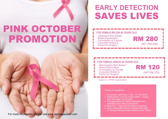 Pink October Promotion